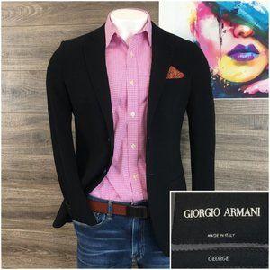 Giorgio Armani Mens Slim Sport Coat Blazer